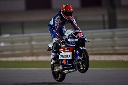 Moto3: первая ночь свободной практики для дуэта из GRESINI RACING TEAM MOTO3 в Катаре.