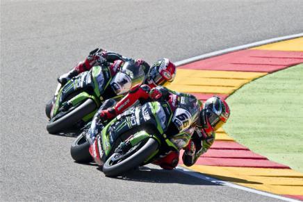 WSBK. Kawasaki: Ри второй, а Сайкс третий после первой гонки в Арагоне